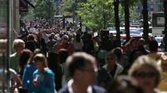 Crowded Sidewalk 3 Stock Footage