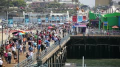 Santa Monica Pier 14 HD Stock Footage