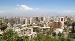 Panorama of Santiago de Chile - stock footage
