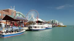 Navy Pier Time Lapse Stock Footage