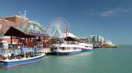 Stock Video Footage of Navy Pier Time Lapse