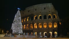 Timelapse Colosseum at Christmas (2) Stock Footage