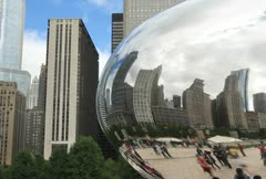 Chicago Reflection Time Lapse - stock footage