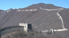 Great Wall China tourist people walking Stock Footage