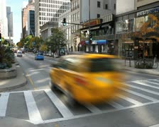 Crosswalk Intersection Time Lapse Stock Footage