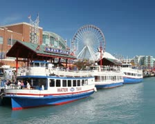 Navy Pier in Chicago Stock Footage