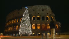 Timelapse Colosseum at Christmas (38 secs) Stock Footage
