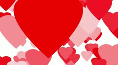Hearts Up Seamless Loop Stock Footage