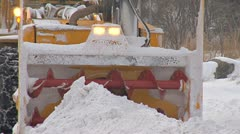 Snow Blower Close zoom out Stock Footage