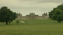 Blenheim Palace, Woodstock, Oxfordshire, England. As seen from Bladon. Stock Footage