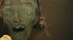 Mummy Face Stock Footage