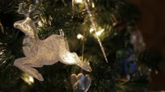 Christmas - Deer Ornament Stock Footage