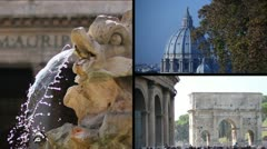 St.Peter Colosseum Pantheon Stock Footage