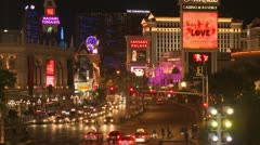 Las Vegas Strip downtown - stock footage