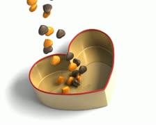 Choco hearts Stock Footage