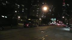 NYC-021 NIGHT Timelapse ajatte pitkiä CLIP Arkistovideo