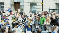 London New Years Day Parade 1st Jan 2012 Stock Footage