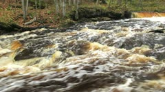 Fast-flowing river Stock Footage