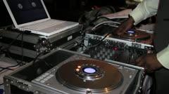 DJ with CDJs Stock Footage