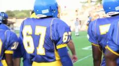 High School Football Team - stock footage