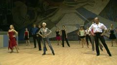 Stock Video Footage of Teacher of the ballroom dance, rehearsal.