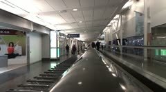 Inside Airport Of Montreal Stock Footage