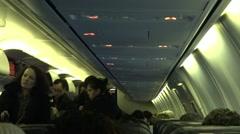 Passengers Boarding Plane - stock footage