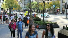 People on Michigan Avenue - stock footage