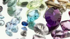 Gemstones Stock Footage