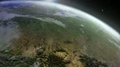 Earth sunrise Stock Footage