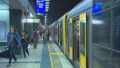 Sydney Central Train Station with commuters PT1 Stock Footage