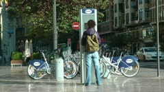 Stock Video Footage of European Bike Rental