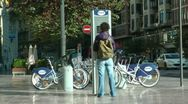 European Bike Rental Stock Footage
