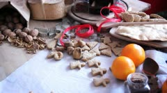 Christmas gingerbreads Stock Footage