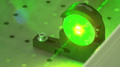 Green laser beam Stock Footage