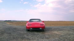 300zx dolly out LS Stock Footage