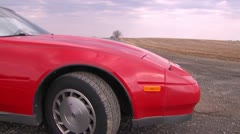 300zx dolly left MS Stock Footage