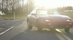 300zx drive behind 4 Stock Footage