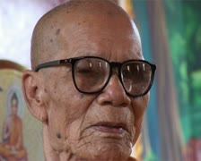 Revered Thai Buddhist monk Luangpu Khong, now deceased. Stock Footage