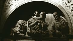 Religeous statue in Roman church (zoom) - stock footage