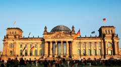 reichstag frontal - stock footage