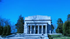 Abraham Lincoln's Birthplace Dolly Shot Tracking Shot Timelapse Stock Footage