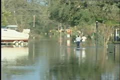 Slidell People in Water Stock Footage