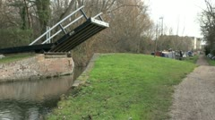 Opening Bridge on the Oxford Canal - stock footage