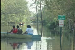 Slidell People in Boats Stock Footage