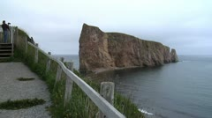 Percé Rock and Bonaventure Island, Quebec Stock Footage