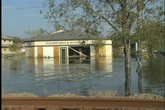 Slidell Flooded Store Stock Footage