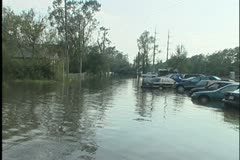 Slidell Flooded Cars 2 Stock Footage