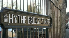 Hythe Bridge Street in Oxford Stock Footage