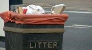 Litter Bin Stock Footage